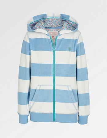 Stripe Towel Zip Thru Hoody