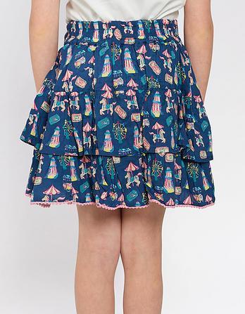 Funfair Print Ra Ra Skirt