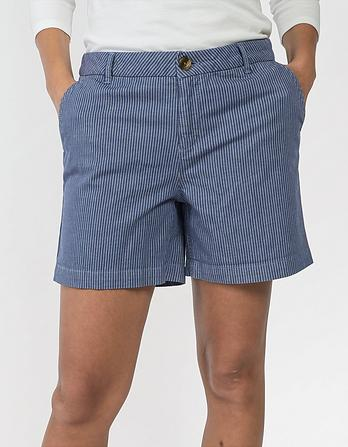 Organic Cotton Stripe Padstow Chino Shorts
