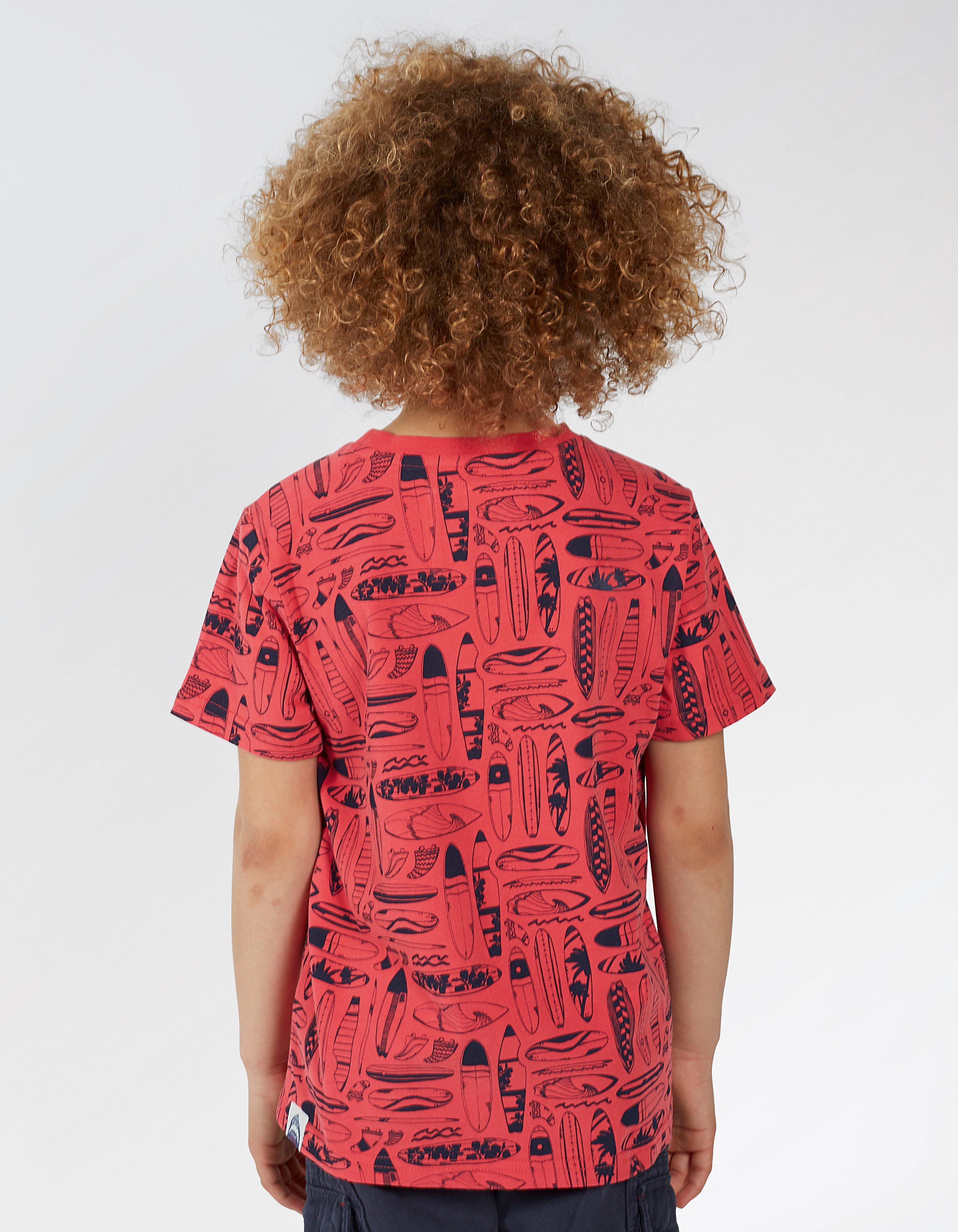 Surfboard Sketch Print T Shirt