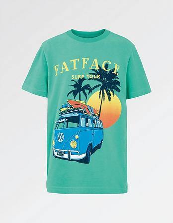 VW Ss Sunset Camper Tee