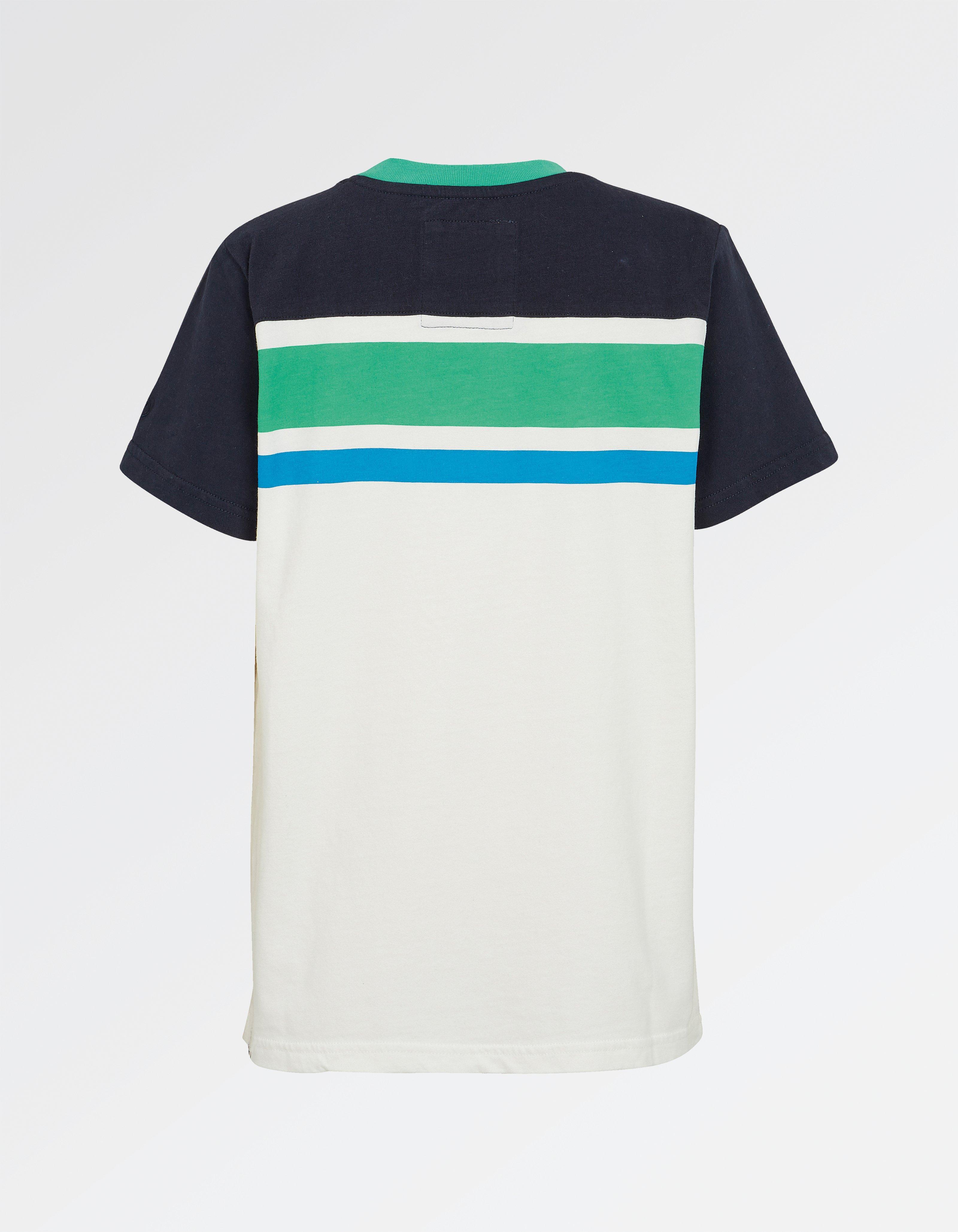 Cut And Sew Stripe T Shirt
