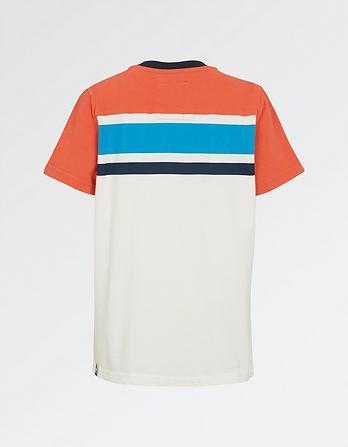 Cut And Sew Stripe T-Shirt