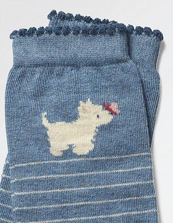 One Pack Westie Stripe Socks