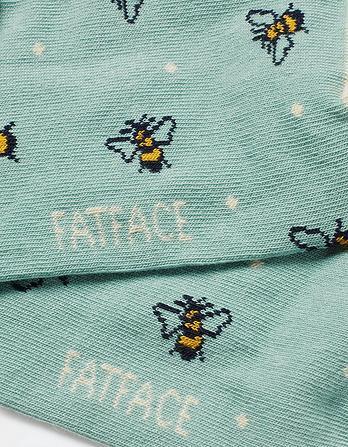 One Pack Spotty Bee Socks