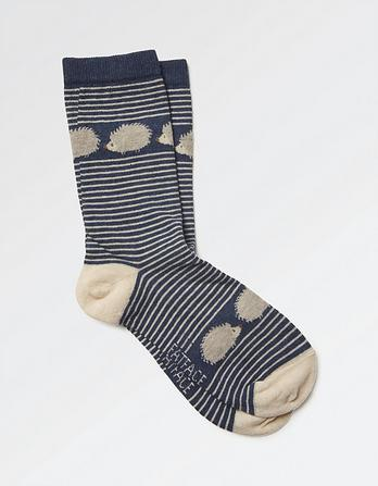 One Pack Hedgehog Stripe Socks