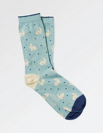 One Pack Bunny Spot Socks