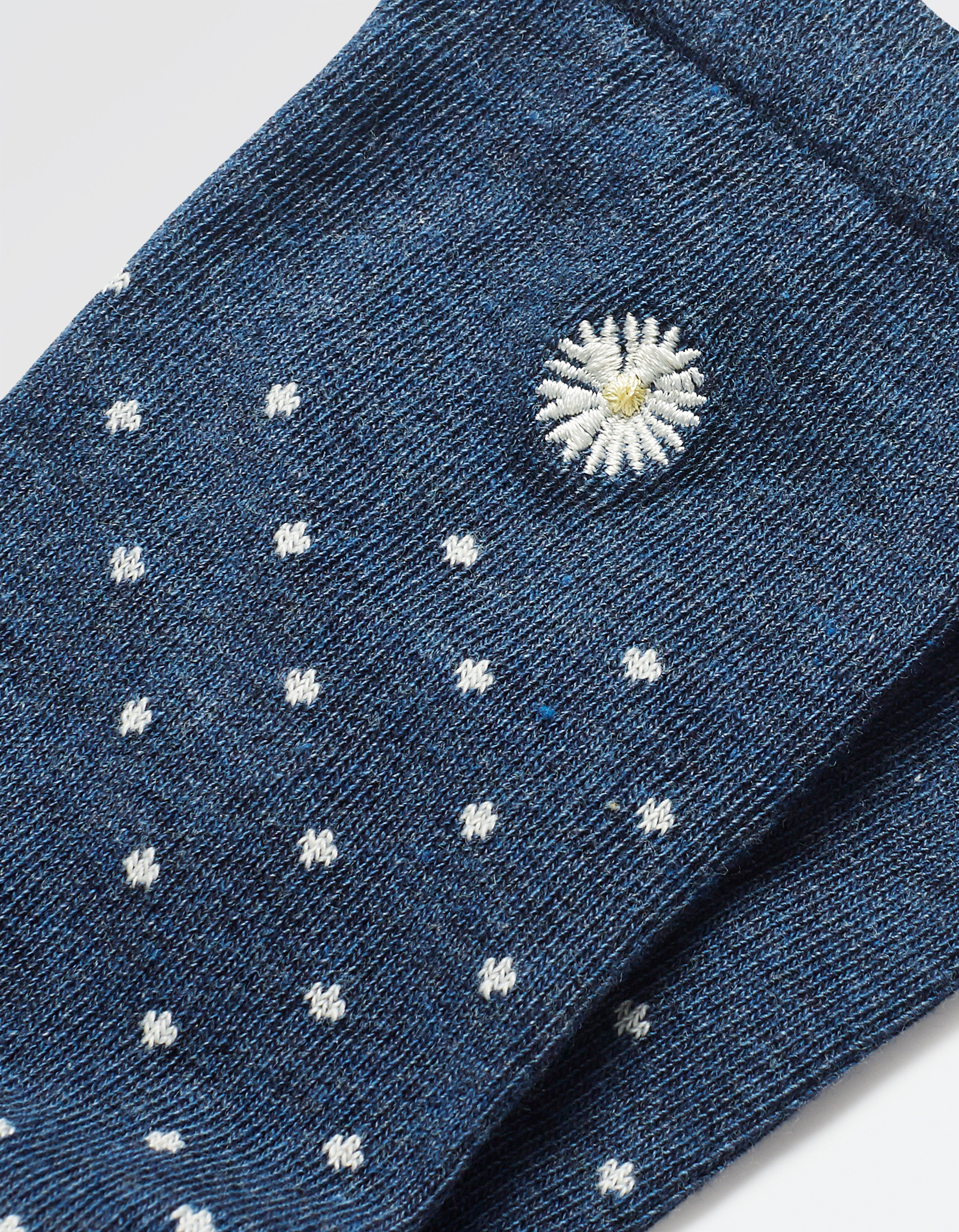One Pack Daisy Embroidery Socks
