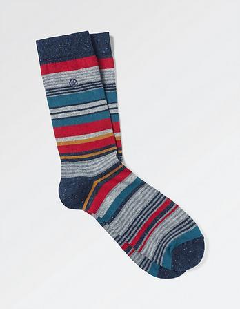 One Pack Chris Stripe Socks