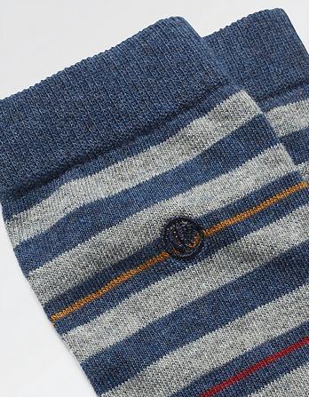 One Pack Eddie Stripe Socks