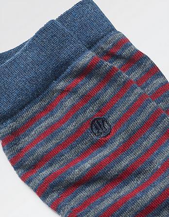 One Pack Abe Stripe Socks