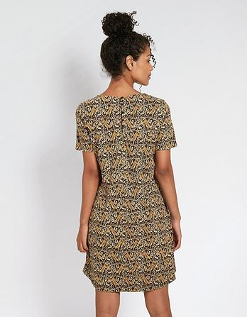 Simone Tiger Vine Dress