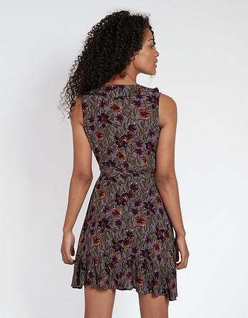 Martha Jungle Floral Wrap Dress