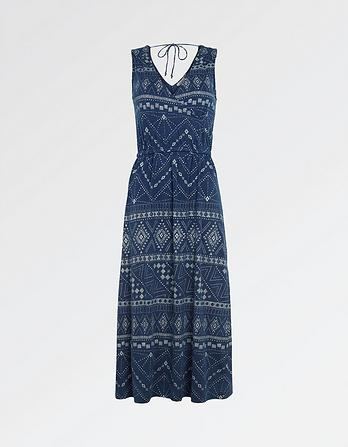 Blair Tribal Batik Midi Dress