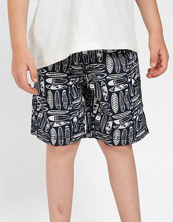 Surfboard Print Shorts