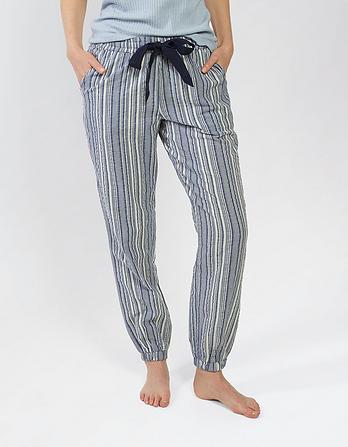 Stripe Cuffed Lounge Pants