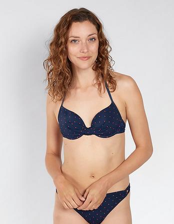 Polka Dot Plunge Bikini Top