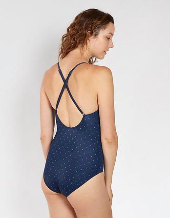 Polka Dot Ruffle Swimsuit