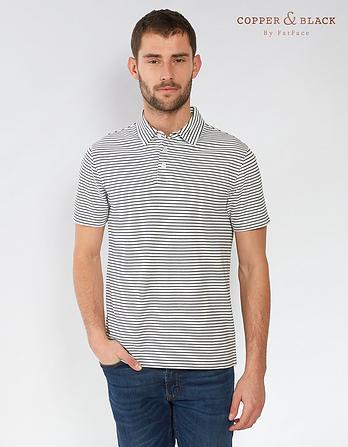 Windsor Organic Cotton Pique Stripe Polo