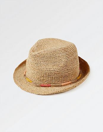 Bright Wrapped Band Trilby