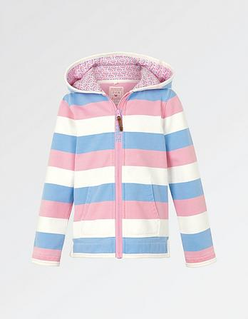 Stripe Fairground Zip Thru Hoody