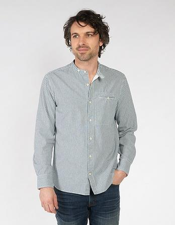Worthing Stripe Grandad Shirt