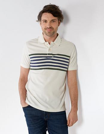 Adair Stripe Organic Cotton Polo