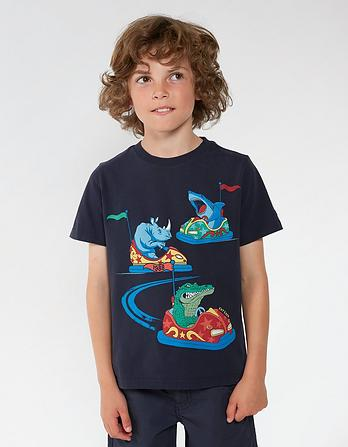 Bumper Car Creature Graphic T-Shirt