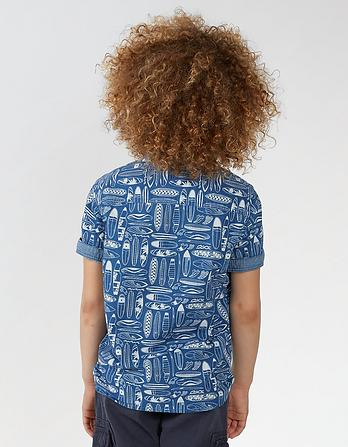 Surfboard Print Shirt