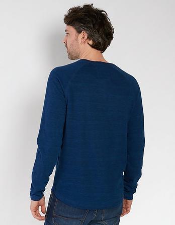 Indigo Henley T-Shirt