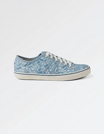 Easton Print Lace Up Trainers