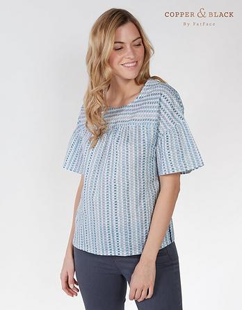 Allie Watercolour Stripe Blouse