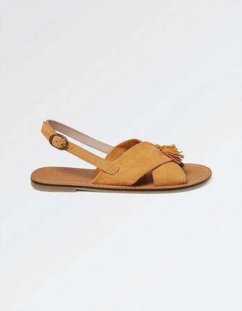 Chrisie Cross Strap Sandals