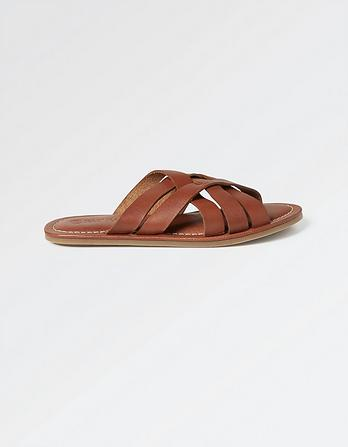 Penny Plaited Slider Sandals