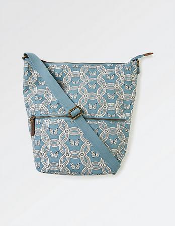 Tia Geo Butterfly Canvas Cross Body Bag