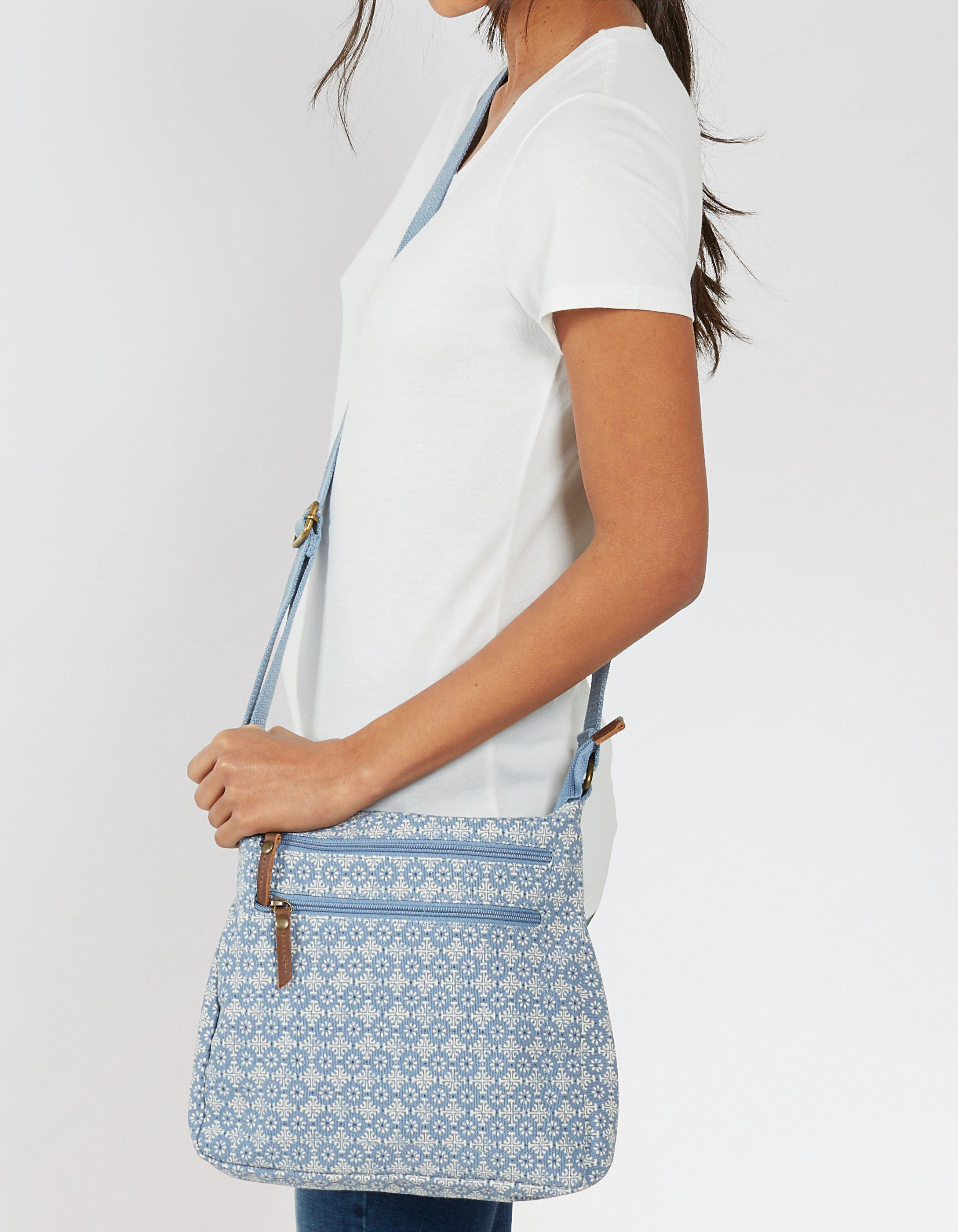 Daisy Geo Canvas Cross Body Bag
