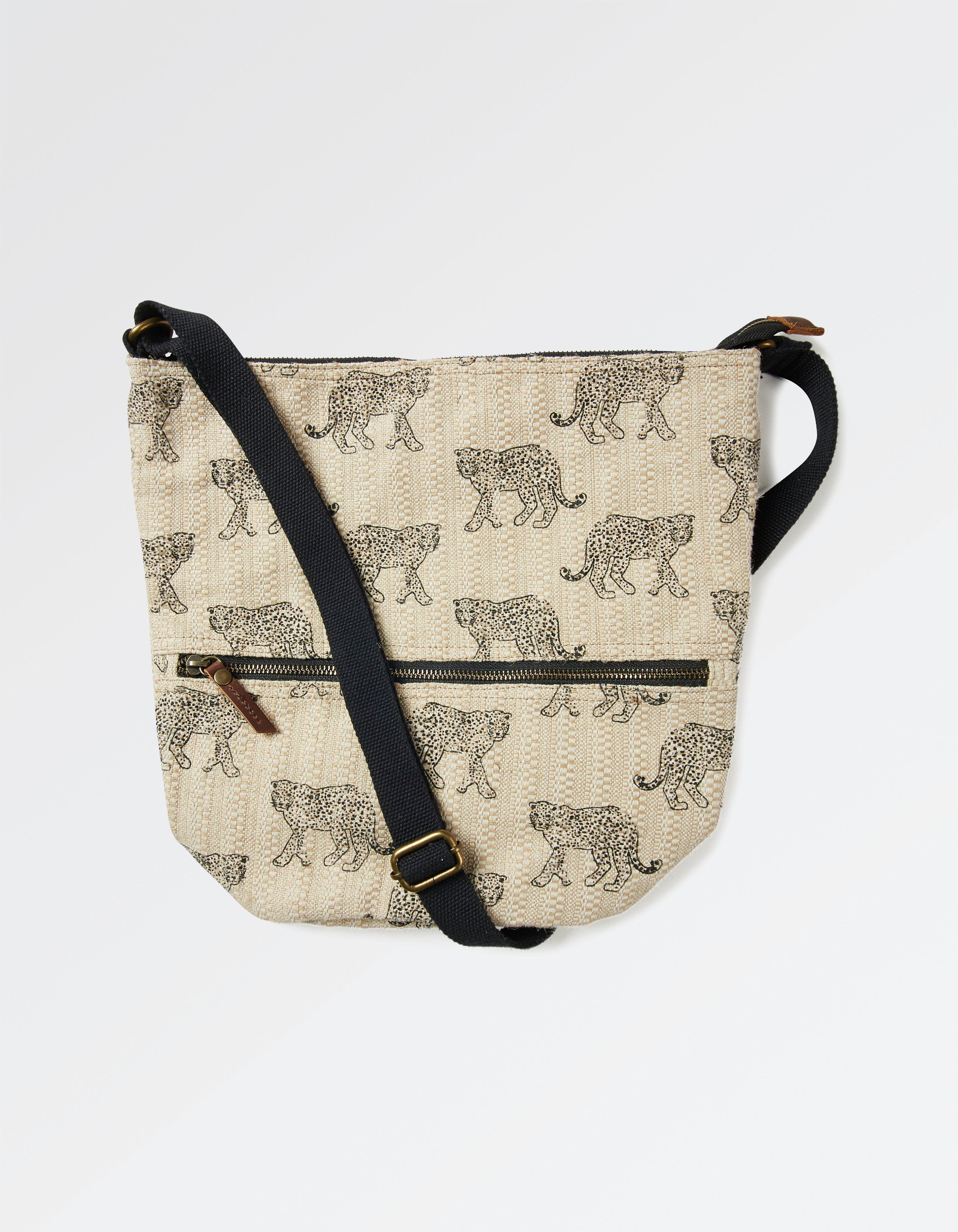 Big Cat Woven Tia Cross Body Bag