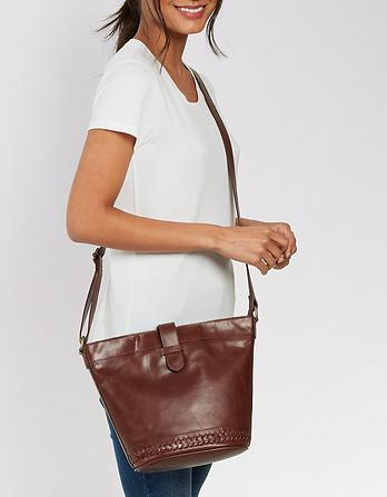 Frankie Whipstitch Cross Body Bag