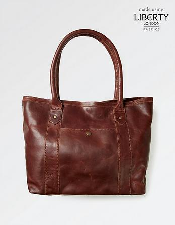 Liberty Lined Leather Tote
