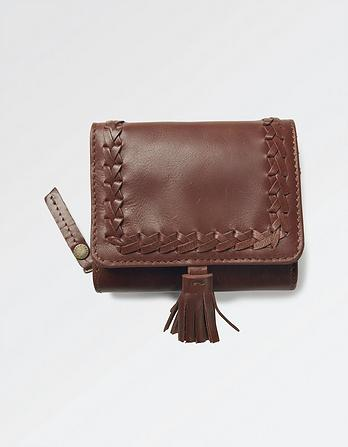 Whipstitch Leather Purse