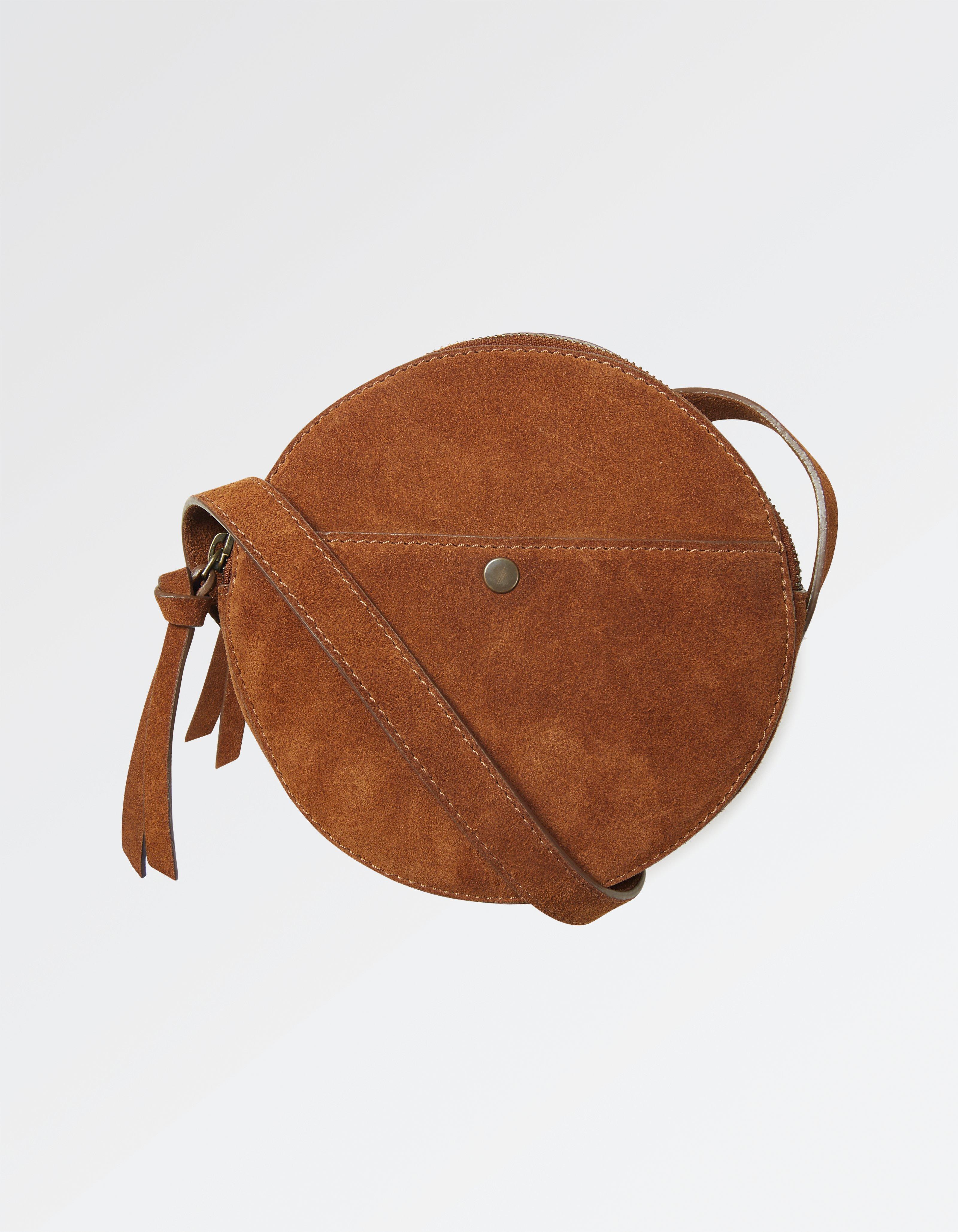 Suede Circle Bag