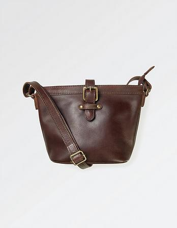 Amelie Mini Leather Hobo Bag