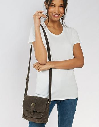 Cassie Suede Cross Body Bag