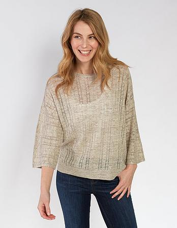 Daisy Pointelle Sweater