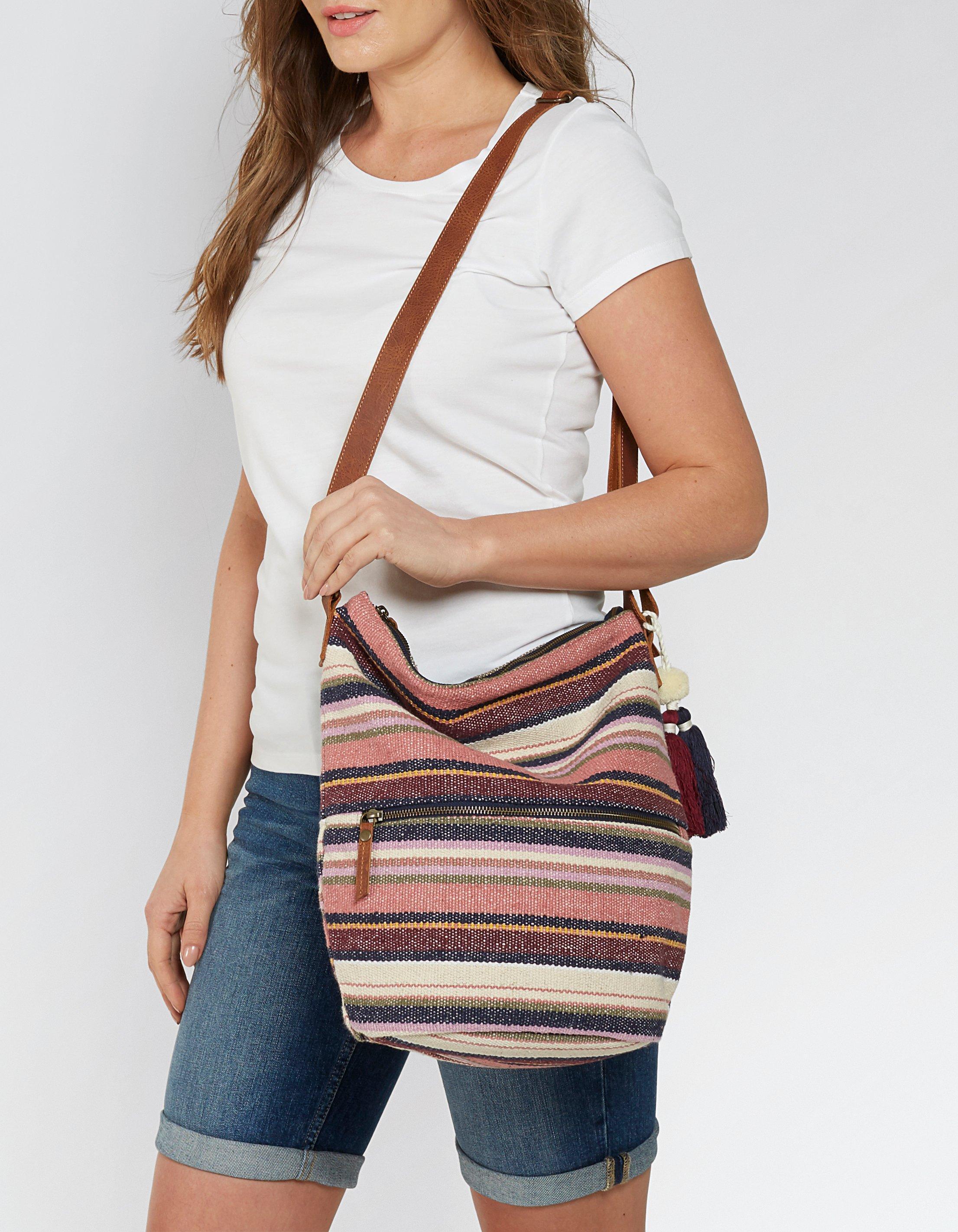Woven Stripe Tia Cross Body Bag