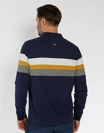 Long Sleeve Organic Cotton Stripe Polo