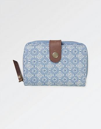 Daisy Geo Canvas Purse