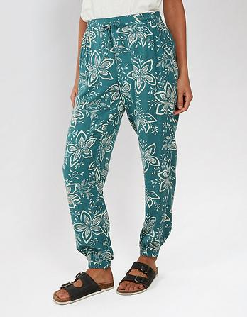 Star Flower Cuffed Trousers