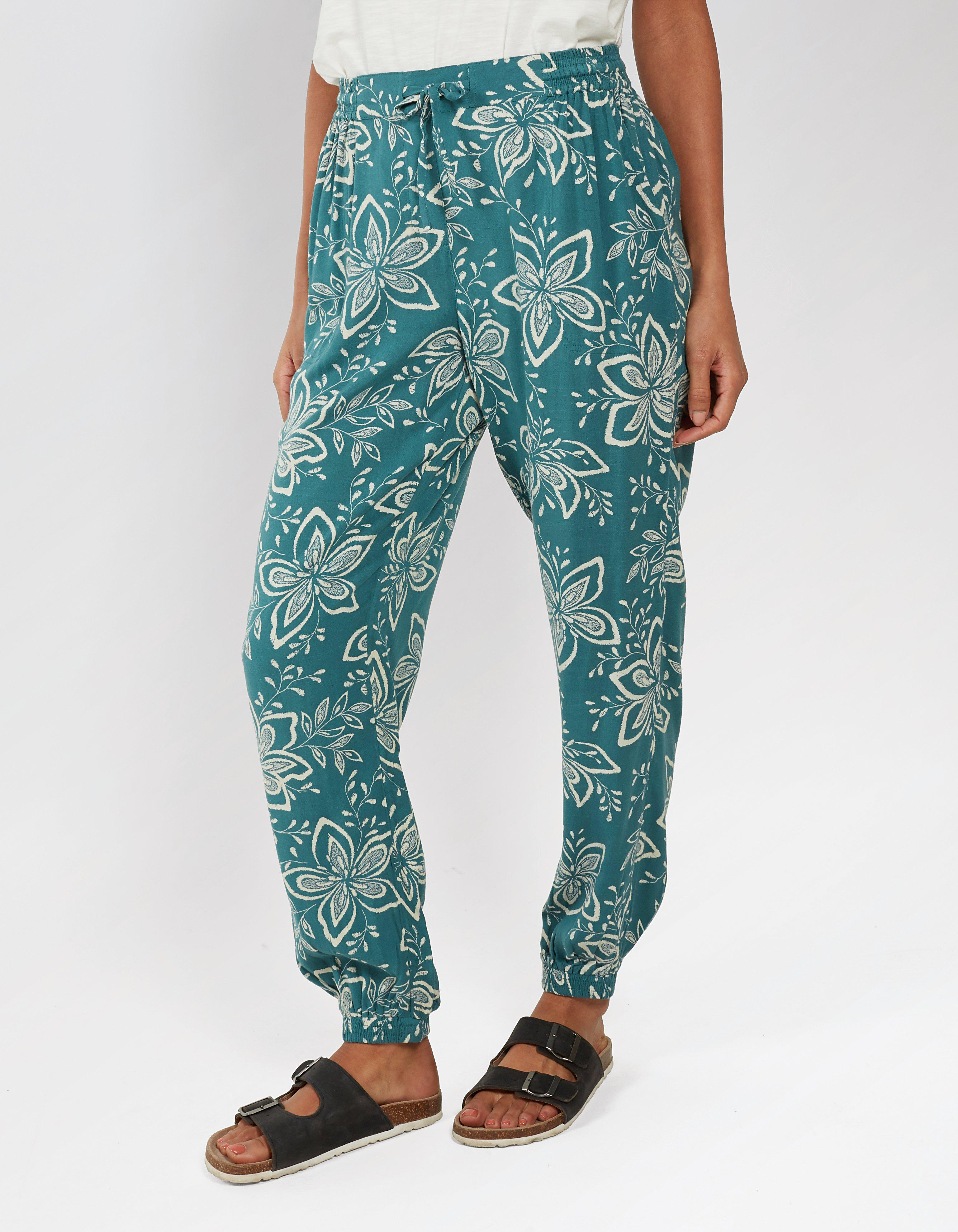 Star Flower Cuffed Trousers