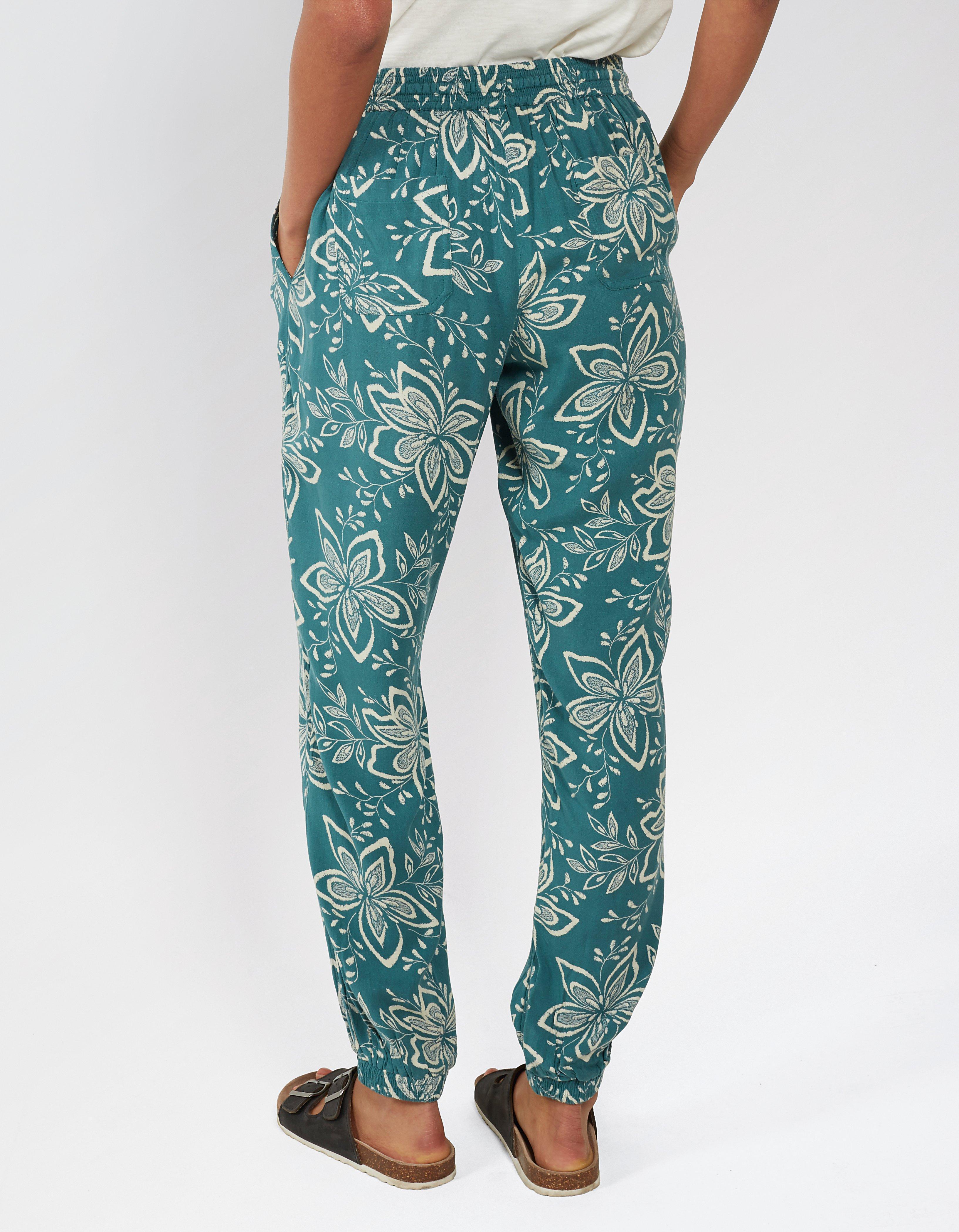 Star Flower Cuffed Pants